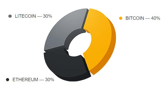 Состав инвестиционного портфеля CryptA Capital