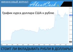 Стоит ли вкладывать деньги в доллары + текущий график курса рубль доллар США
